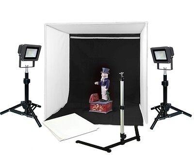 (LED Photo Tent 16in Table Top Photography Chromakey Backdrops Steve Kaeser )