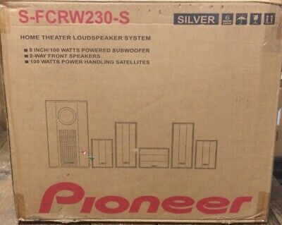 Pioneer Home Theater Loudspeaker System Model S-FCRW230-S New Open Box