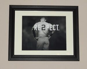 Derek Jeter Respect Photo print poster FRAMED 13 by 10 inches NY Yankees