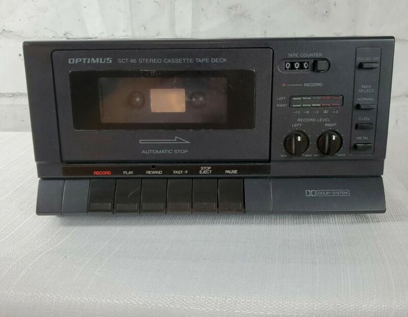 Optimus SCT-86 Stereo Cassette Tape Deck Dolby System(TESTED)