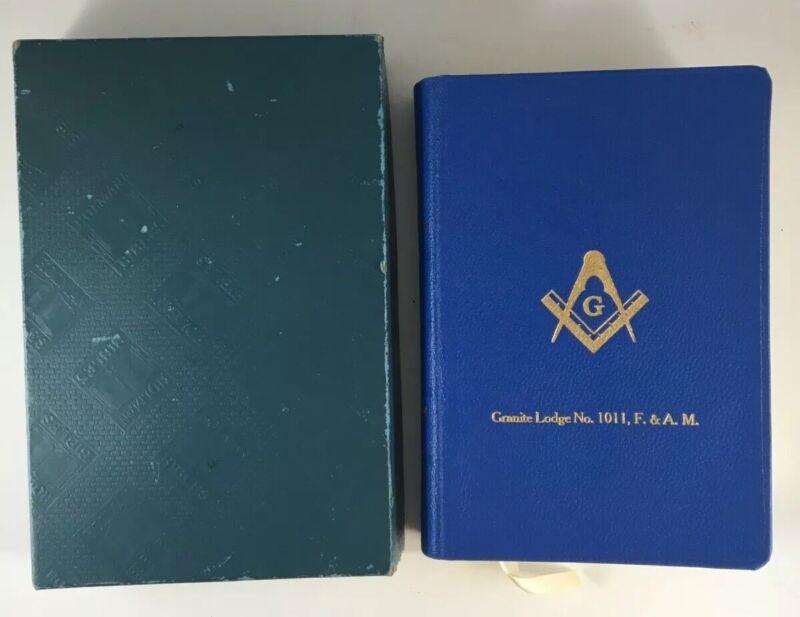 Vintage 1940s Masonic Edition A. J. Holman Illustrated Bible