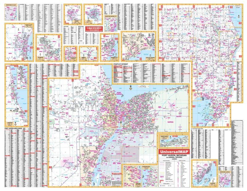 Port Huron, MI Wall Map