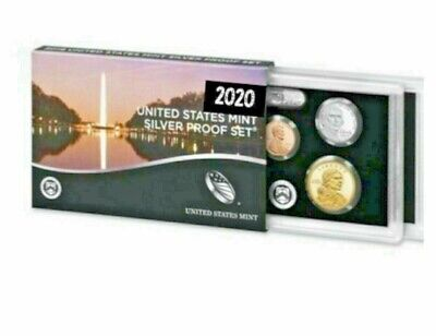 2020 S SILVER PROOF SET 10 COIN UNOPENED W/ BOX COA - NO ADDED NICKEL #67 Coin Box Coa No Coins