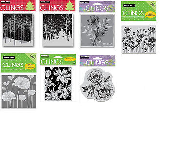 Hero Arts Cling Stamps Snowy Winter Nights Winter Trees Blossom Poppy Blooming ()