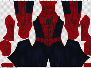 Details about Raimi Spider Man Costume Pattern 3D Webs & Spiders
