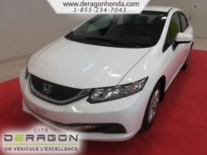 2015 Honda Civic Sedan LX + SEULEMENT 28 535 KM + JAMAIS ENDOMMA