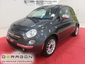 2014 Fiat 500C LOUNGE + DECAPOTABLE + AUCUN ACCIDENT RAPPORTE LO