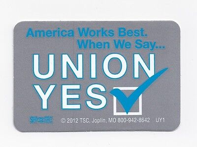 Union Yes Hard Hat Stickers Union Made For Tradesmen 8 For 8 Free Shipping