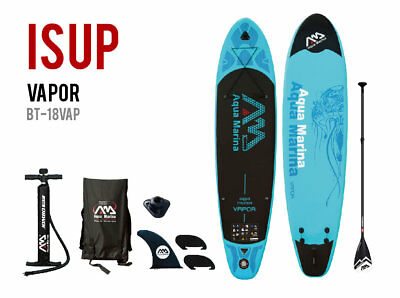 Aqua Marina Vapor  10 10  Sup Inflatable Stand Up Paddle Board W  3Pc Paddle