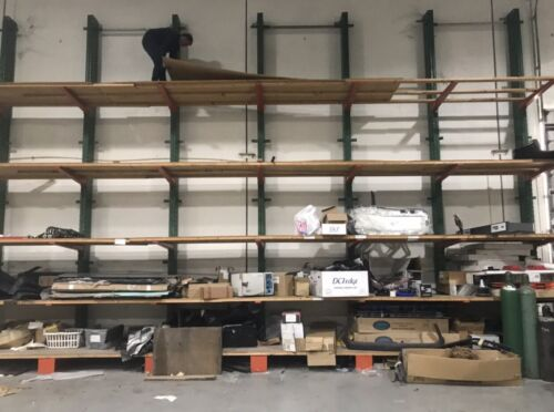 CANTILEVER STRUCTURAL WAREHOUSE STORAGE PALLET RACK 20 FEET TALL HEAVY DUTY ARMS