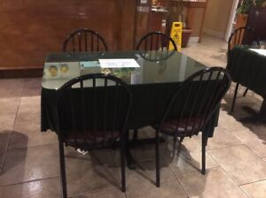 Restaurant tables and chairs for sale