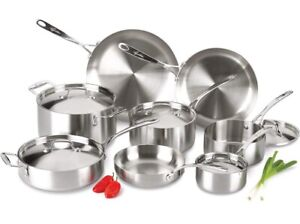 Lagostina Axia Tri-Ply Stainless 13 Piece Cookware Set