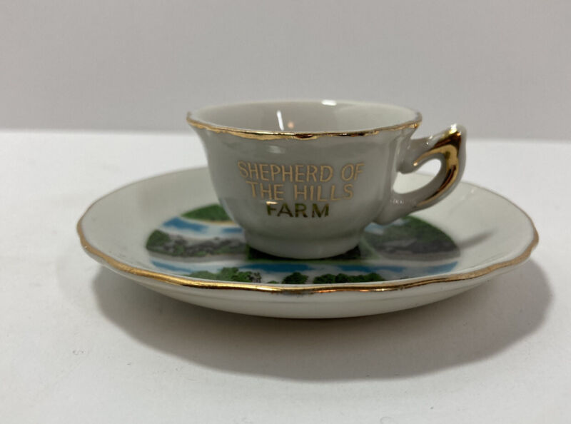 Collectable Shepherd Of The Hills Farm  Miniature Tea Cup & Saucer