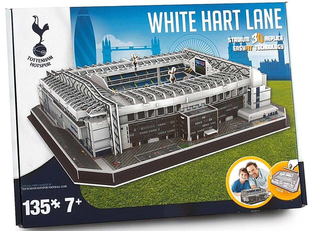 tottenham hotspur white hart lane stadium 3d jigsaw puzzle pl ebay. Black Bedroom Furniture Sets. Home Design Ideas