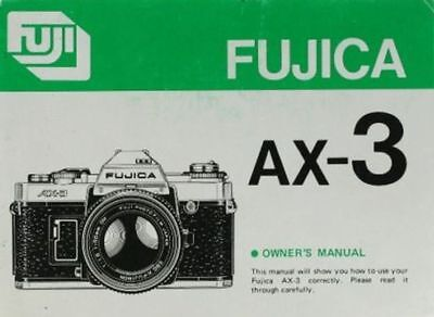 Instructions and guides FUJICA AX-3 SLR