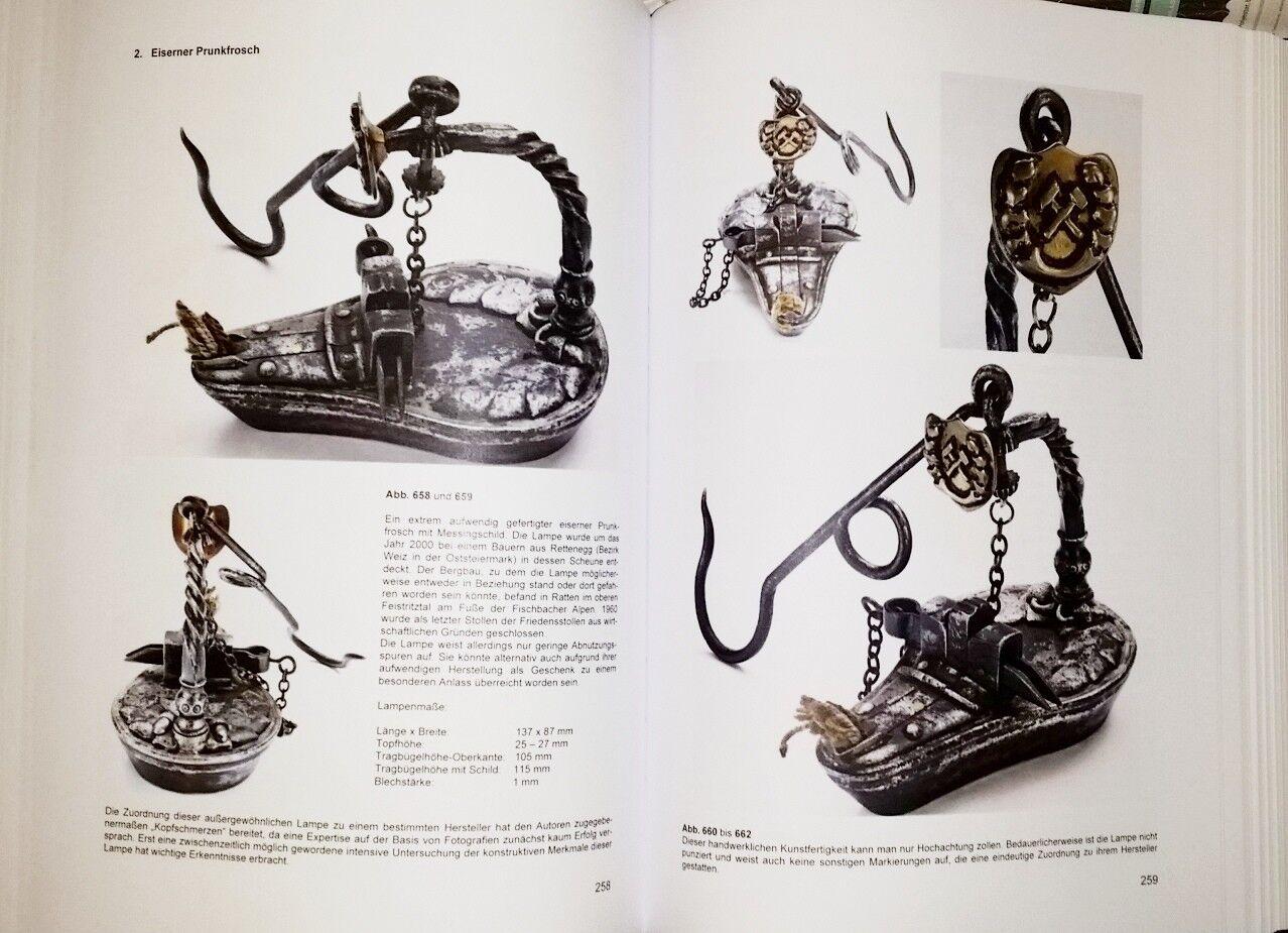 lampe de mineur lampe de huile PIRRINGER GRAZ AUTRICHE NOUVEAU livre