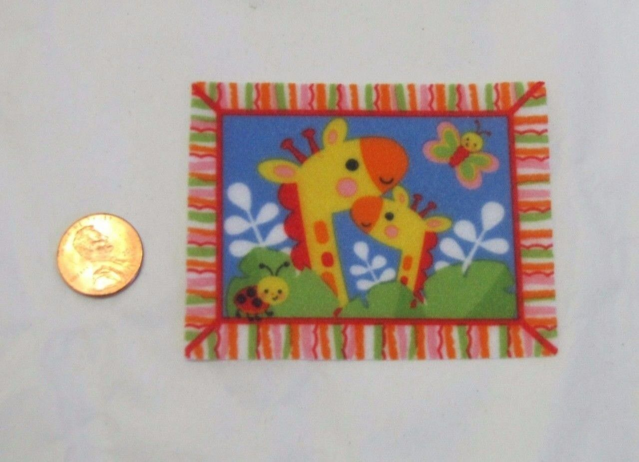 NEW Fisher Price Loving Family Dollhouse BABY BLANKET Giraff