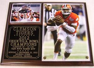 Clemson Tigers 2012 Chick-Fil-A Bowl Champions NCAA ACC Photo Plaque BCS