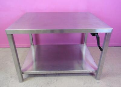 "RDM 36x48"" Adjustable Height 33-39"" Stainless Steel Hydraulic Lift Table 1000-lb"