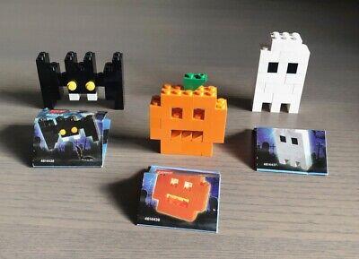 Halloween Legos: Jack-O-Lantern (40012); Ghost (40013); Bat (40014)