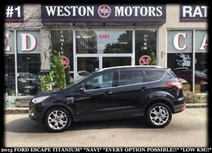 2015 Ford Escape TITANIUM*NAVI*EVERY OPTION POSSIBLE!*WOW LOW KM