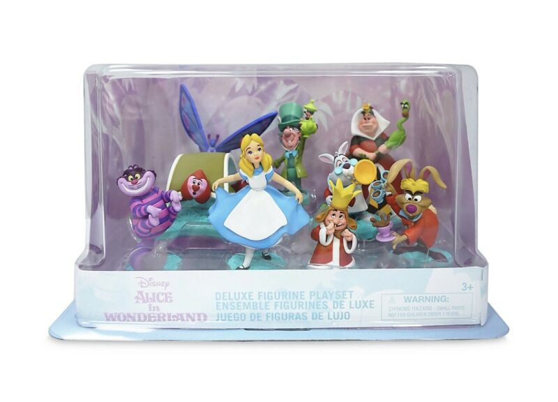 2021 Disney Store Deluxe Alice in Wonderland Figure Figures Figurine Playset