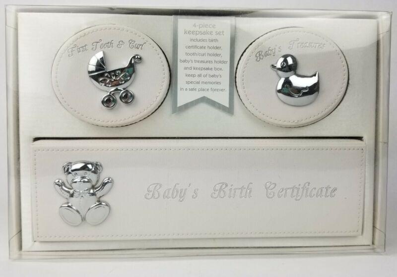 Baby Unisex Keepsake 4-Piece Set Box Set, New in Box Macy