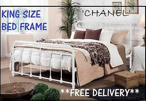 NEW King Size Bed Frame ANTIQUE STYLE White Bed DELIVERED FREE New Farm Brisbane North East Preview