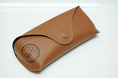 Ray Ban Case BROWN Leather MEDIUM for Sunglasses - 100% Authentic - RG3A