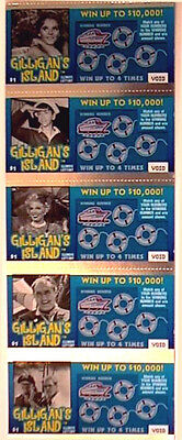 Gilligans Island Instant Lottery Ticket Set