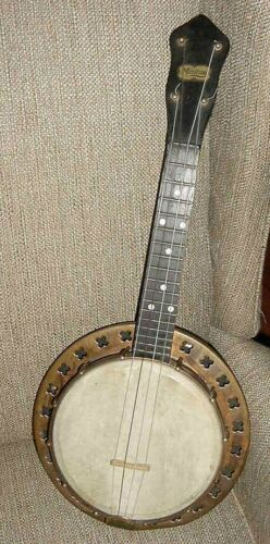 Banjolele Maxitone Concert-Banjo/Ukelele-Original-Bruno Co-Copper-Brass-Wood