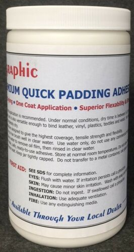 PADDING COMPOUND ADHESIVE WHITE PREMIUM ONE COAT QUICK DRYING NEW 1 QUART