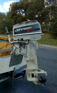 25hp Johnson Mid 90's & fwd controls