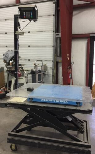 Weigh-Tronix DSL3030-02 30x30in 2000lb Max Scale And Cart