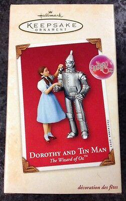2003 Hallmark DOROTHY and TIN MAN The Wizard Of Oz CHRISTMAS ORNAMENT w BOX + pt