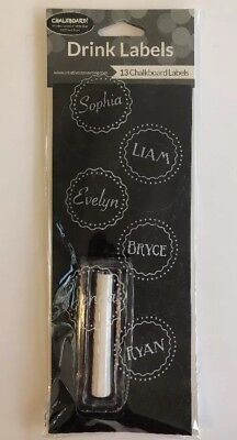 Chalkboard Drink Labels Black Personalizable Party Celebration Gathering Chalk - Drink Labels