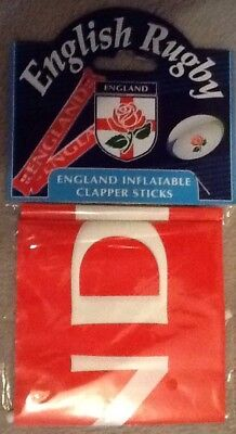 England Rugby Union Clapper Sticks pack of 2 BNIP English Rugby