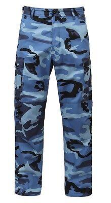 Sky Blue CAMO ULTRA FORCE BDU CAMOUFLAGE PANTS TROUSERS HOSE XLarge Regular - Blue Bdu Hose