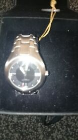 TIME FORCE 2582M Quartz/ Watch Chronograph Date Stainless Steel