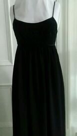 Black NEXT Dress. Beaded bust area.
