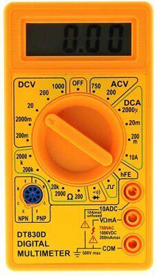 Dt 830d Lcd Voltmeter Ammeter Ohm Digital Multimeter Battery Leads Electric