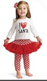 American company Mud Pie I love Santa outfit