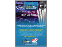 PDC darts tickets VIP all inclusive