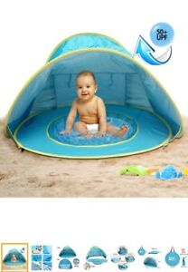 Baby pool with tent