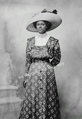 Vintage Old Photo Print Pretty Edwardian era African American Black Woman Lady for sale  Shipping to Nigeria