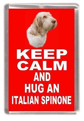 "Italian Spinone No.1. Dog Fridge Magnet ""KEEP CALM AND HUG AN ...."" by Starprint"
