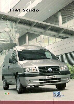 Fiat Scudo 2006-07 UK Market Sales Brochure Van Glazed Combi Platform Cab SX