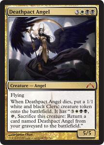 mtg-BLACK-WHITE-ORZHOV-DECK-Magic-the-Gathering-deathpact-angel-teysa-rare-lot