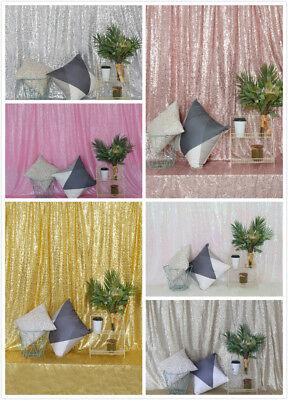 4x9Ft Background Sparkly Sequin Backdrop Photo Booth Wedding Party Curtain Decor