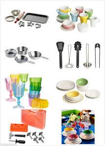 New duktig kids children 39 s kitchen toy cups plate bowl cookware baking tea set ebay - Duktig tea set ...